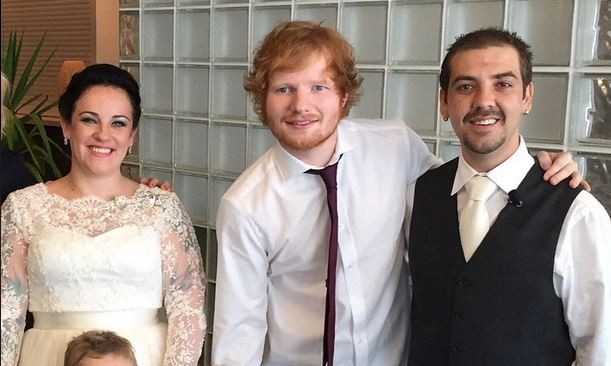 Cupid's Pulse Article: Newly Single Celebrity Ed Sheeran Crashes Wedding with Surprise Performance