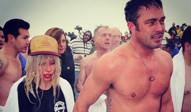 Cupid's Pulse Article: Latest Celebrity News: Lady Gaga Takes the Polar Plunge with Fiance Taylor Kinney