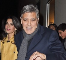 Famous Couple George Clooney and Amal Alamuddin Enjoy NYC Food Tour