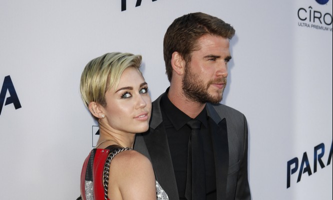 Cupid's Pulse Article: Celebrity Couple Miley Cyrus & Liam Hemsworth Hold Hands on Date Night in NYC
