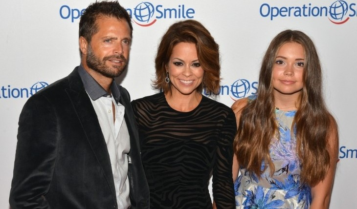 Brooke Burke-Charvet with husband David Charvet and daughter Nehria Fisher. Photo: Billy Bennight / PR Photos