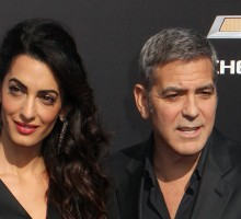 Famous Couple George and Amal Clooney Have Family Dinner in Italy