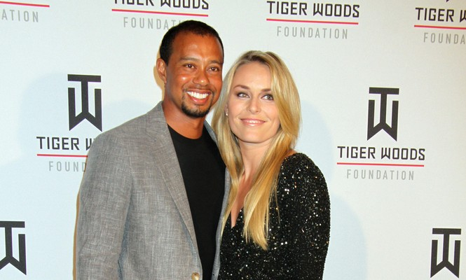 Tiger Woods and Lindsey Vonn are celebrity exes. Photo: PRN / PRPhotos.com