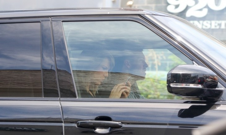 Taylor Swift and Calvin Harris were spotted leaving her house. Photo: Arielle Madnick / PRPhotos.com