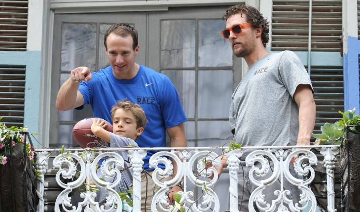 Celebrities and Their Kids Are Just Just Like Us: Drew Brees and Matthew McConaughey with son Levi