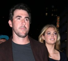 Celebrity News: Kate Upton Kisses Fiancé Justin Verlander After Astros World Series Win