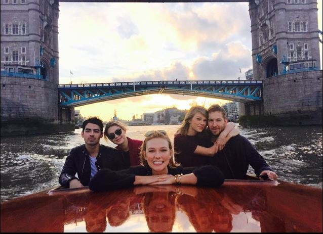 Cupid's Pulse Article: Taylor Swift Gestures to New Celebrity Love Calvin Harris at Dublin Concert