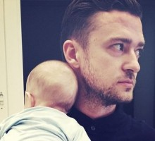 Justin Timberlake Shares Photos of Celebrity Baby Son Silas