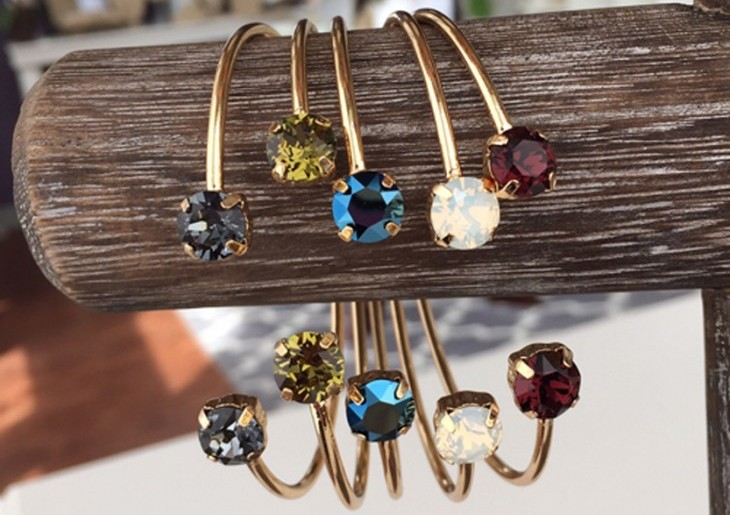 Isabelle Grace Jewelry stackable gemstone bangles. Photo courtesy of Hollywood Connections PR.