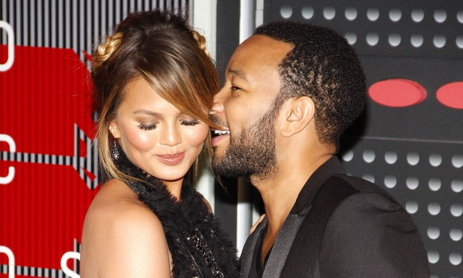 Cupid's Pulse Article: Celebrity Baby: John Legend Rubs Chrissy Teigen's Bump at Charity Event