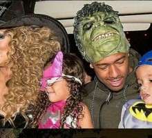 Former Celebrity Couple Mariah Carey and Nick Cannon Reunite to Celebrate Halloween with Kids