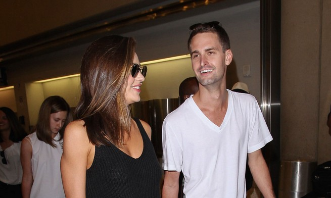 Cupid's Pulse Article: Celebrity Couple News: Miranda Kerr Says BF Evan Spiegel Acts Like He's 50