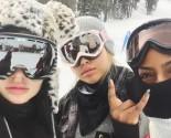 Celebrity Couple Kylie Jenner & Tyga Go on New Year's Ski Trip