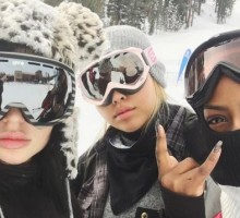 Celebrity Couple Kylie Jenner & Tyga Go on New Year's Ski Trip