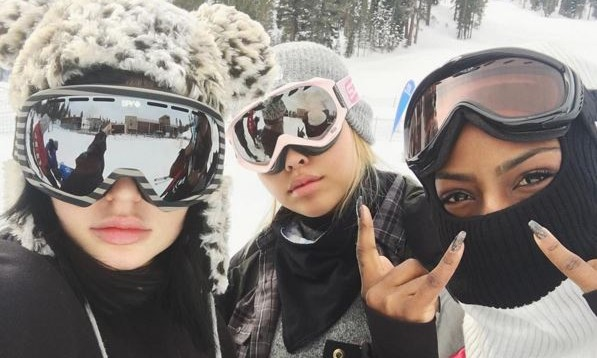Cupid's Pulse Article: Celebrity Couple Kylie Jenner & Tyga Go on New Year's Ski Trip