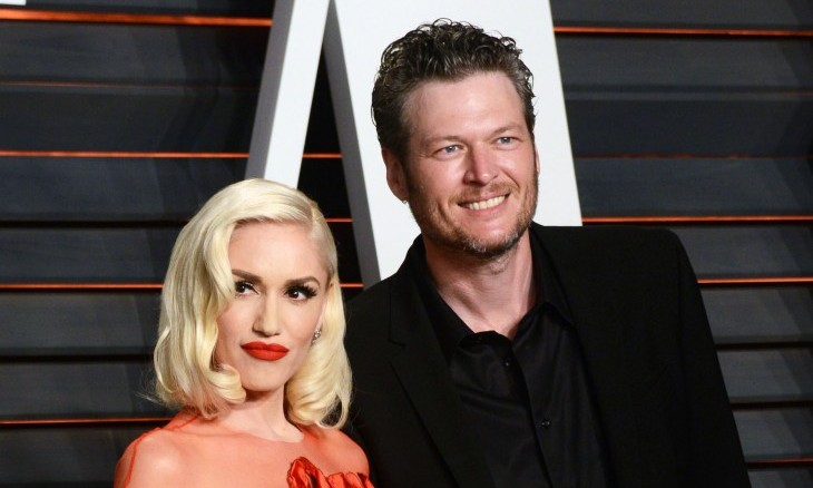 Cupid's Pulse Article: Celebrity Couple News: Gwen Stefani Wears Sheer Dress with Blake Shelton at Oscars After-Party