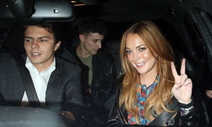 Cupid's Pulse Article: Celebrity Couple News: Lindsay Lohan & Egor Tarabasov Are Red Carpet Official