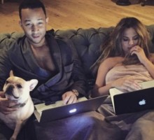 Celebrity Couple News: Chrissy Teigen & John Legend Share Romantic Snuggly Photo