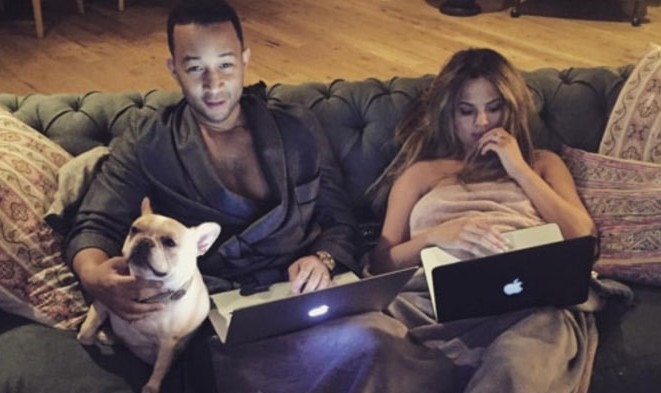 Cupid's Pulse Article: Celebrity Couple News: Chrissy Teigen & John Legend Share Romantic Snuggly Photo