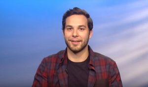 Skylar Astin talks his career, upcoming wedding with Anna Camp, & partnership with megabus.com in celebrity video interview.
