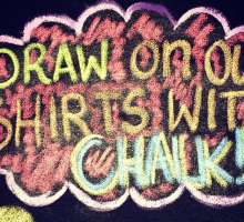 Product Review: Express Your Love With a Chalk Me UP! T-Shirt