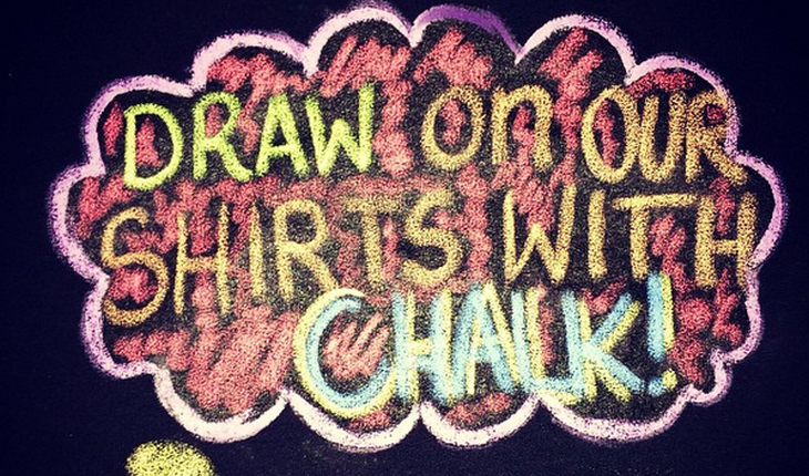 Cupid's Pulse Article: Product Review: Express Your Love With a Chalk Me UP! T-Shirt