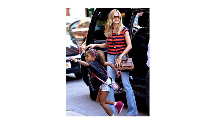 Cupid's Pulse Article: Celebrity Style: Heidi Klum Spotted Wearing MCM Worldwide NYC