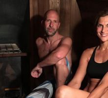 Celebrity News: Neil Strauss & Gabrielle Reece Break a Sweat in 'The Truth Barrel'