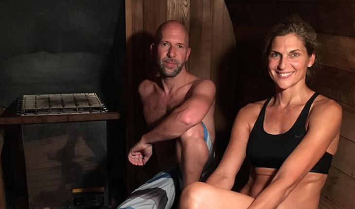 Cupid's Pulse Article: Celebrity News: Neil Strauss & Gabrielle Reece Break a Sweat in 'The Truth Barrel'