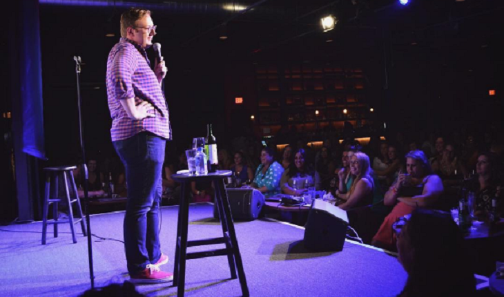 Comedian & single celebrity Matt Bellasai doing a stand up skit.' Photo courtesy of Instagram.