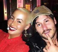 New Celebrity Couple Amber Rose & Val Chmerkovskiy Step Out Holding Hands