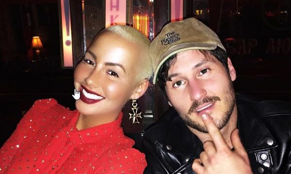 Cupid's Pulse Article: New Celebrity Couple Amber Rose & Val Chmerkovskiy Step Out Holding Hands