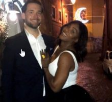 Celebrity Baby: Pregnant Serena Williams Gets Cozy with Boyfriend Alexis Ohanian on Babymoon