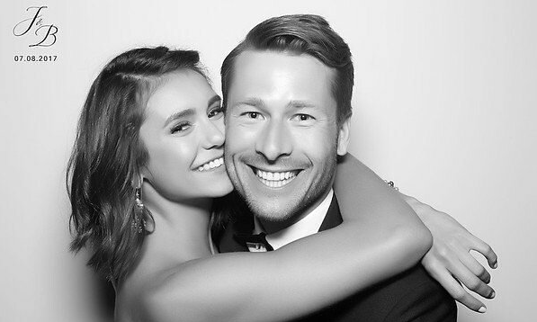 Cupid's Pulse Article: New Celebrity Couple: Nina Dobrev and Glen Powell Attend Julianne Hough's Wedding Together