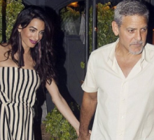 Celebrity Couple News: George & Amal Clooney Enjoy Date Night in Lake Como