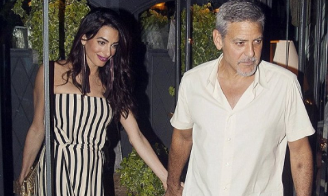 Cupid's Pulse Article: Celebrity Couple News: George & Amal Clooney Enjoy Date Night in Lake Como