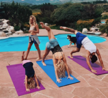 Celebrity Fitness: 5 Basic Yoga Poses by Celebrities
