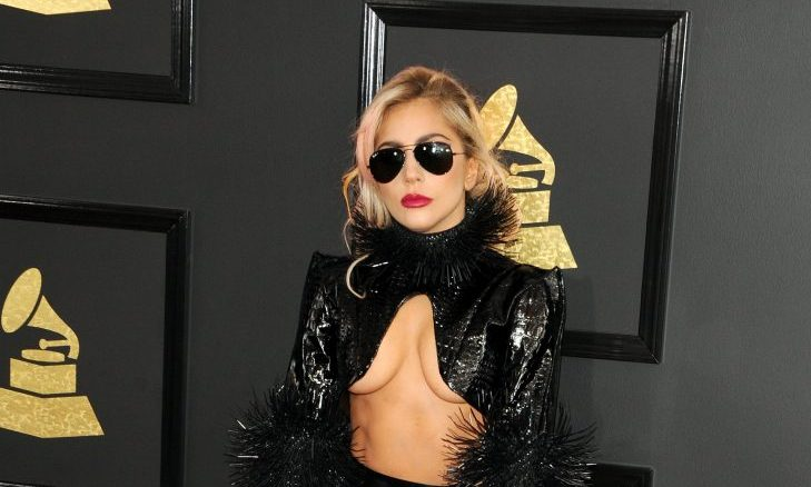 Cupid's Pulse Article: Celebrity Couple News: Lady Gaga & Fiance Christian Carino Share Kiss Backstage at Grammys 2018
