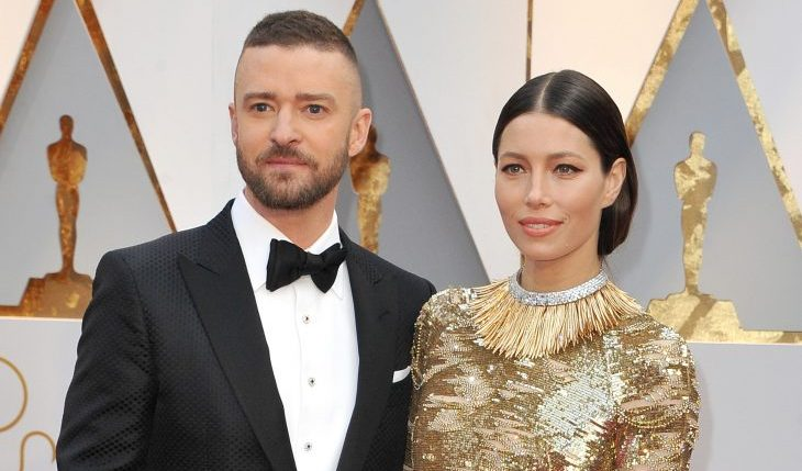 Cupid's Pulse Article: Celebrity Couple News: Justin Timberlake Shares Sweet Instagram Photo, Saying Wife Jessica Biel Has His Back