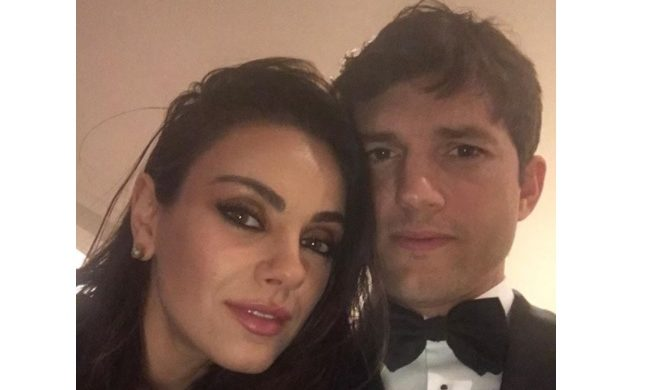 Cupid's Pulse Article: Celebrity Couple News: Ashton Kutcher Posts Sexy Photo with Wife Mila Kunis Pre-Oscars