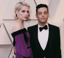 Celebrity Couple News: Rami Malek Gushes Over Lucy Boynton In Oscars Acceptance Speech
