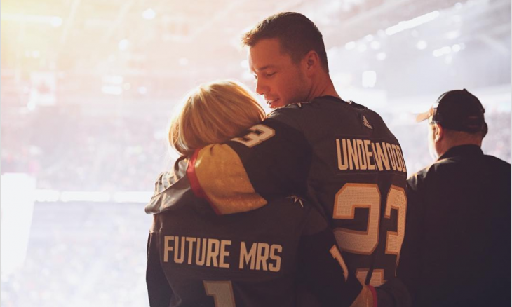 Cupid's Pulse Article: Celebrity Couple: Colton Underwood & Cassie Randolph Sport Romantic Jerseys at Hockey Game