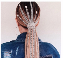 Hair Beauty Trend: Crystals, Chains, and Studs