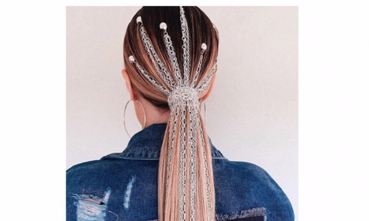 Cupid's Pulse Article: Hair Beauty Trend: Crystals, Chains, and Studs