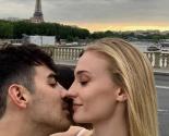 Celebrity Couple Joe Jonas & Sophie Turner Kiss in Paris Before Second Wedding Ceremony