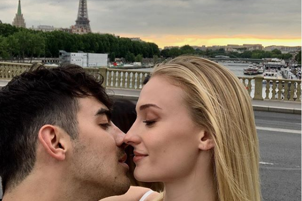 Cupid's Pulse Article: Celebrity Couple Joe Jonas & Sophie Turner Kiss in Paris Before Second Wedding Ceremony